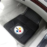 "Pittsburgh Steelers Heavy Duty 2-Piece Vinyl Car Mats 18""x27"""