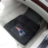 "New England Patriots Heavy Duty 2-Piece Vinyl Car Mats 18""x27"""