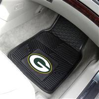 "Green Bay Packers Heavy Duty 2-Piece Vinyl Car Mats 18""x27"""