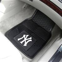 "New York Yankees Heavy Duty 2-Piece Vinyl Car Mats 18""x27"""