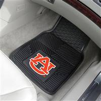 "Auburn Tigers Heavy Duty 2-Piece Vinyl Car Mats 18""x27"""