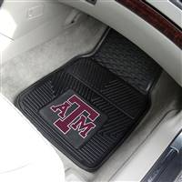 "Texas A&M Aggies Heavy Duty 2-Piece Vinyl Car Mats 18""x27"""