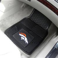 "Denver Broncos Heavy Duty 2-Piece Vinyl Car Mats 18""x27"""