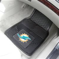 "Miami Dolphins Heavy Duty 2-Piece Vinyl Car Mats 18""x27"""