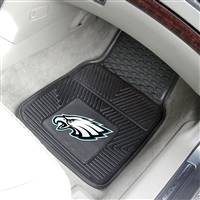 "Philadelphia Eagles Heavy Duty 2-Piece Vinyl Car Mats 18""x27"""