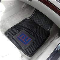 "New York Giants Heavy Duty 2-Piece Vinyl Car Mats 18""x27"""