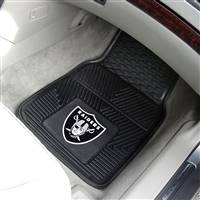 "Oakland Raiders Heavy Duty 2-Piece Vinyl Car Mats 18""x27"""