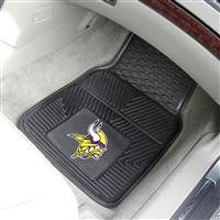 "Minnesota Vikings Heavy Duty 2-Piece Vinyl Car Mats 18""x27"""