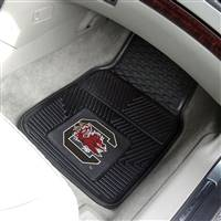 "South Carolina Gamecocks Heavy Duty 2-Piece Vinyl Car Mats 18""x27"""