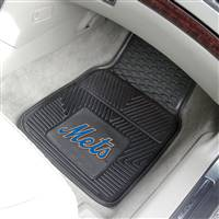 "New York Mets Heavy Duty 2-Piece Vinyl Car Mats 18""x27"""