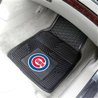 "Chicago Cubs Heavy Duty 2-Piece Vinyl Car Mats 18""x27"""