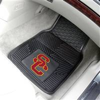 "Southern California (USC) Trojans Heavy Duty 2-Piece Vinyl Car Mats 18""x27"""