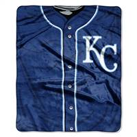 Kansas City Royals Blanket 50x60 Raschel Jersey Design