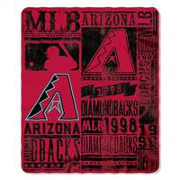 Arizona Diamondbacks Blanket 50x60 Fleece Strength Design