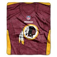 Washington Redskins Blanket 50x60 Raschel Jersey Design