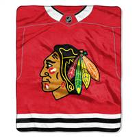 Chicago Blackhawks Blanket 50x60 Raschel Jersey Design