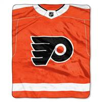 Philadelphia Flyers Blanket 50x60 Raschel New Jersey Design