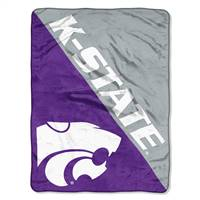 Kansas State Wildcats Blanket 46x60 Micro Raschel Halftone Design Rolled - Special Order