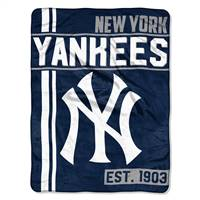 New York Yankees Blanket 46x60 Micro Raschel Walk Off Design