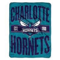 New Orleans Hornets Blanket 46x60 Micro Raschel Clear Out Design Rolled - Special Order