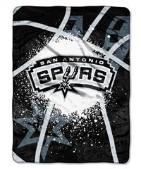 San Antonio Spurs Blanket 60x80 Raschel Shadow Play Design