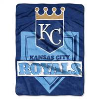 Kansas City Royals Blanket 60x80 Raschel Home Plate Design