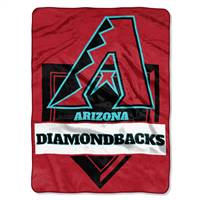 Arizona Diamondbacks Blanket 60x80 Raschel Home Plate Design - Special Order