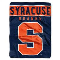 Syracuse Orange Blanket 60x80 Raschel Basic Design - Special Order