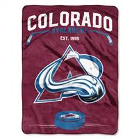 Colorado Avalanche Blanket 60x80 Raschel Inspired Design - Special Order