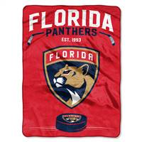 Florida Panthers Blanket 60x80 Raschel Inspired Design - Special Order