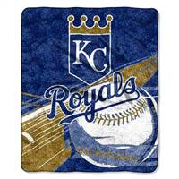 Kansas City Royals Blanket 50x60 Sherpa Big Stick Design