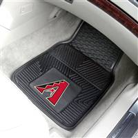 "Arizona Diamondbacks Heavy Duty 2-Piece Vinyl Car Mats 18""x27"""