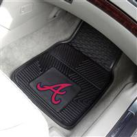 "Atlanta Braves Heavy Duty 2-Piece Vinyl Car Mats 18""x27"""
