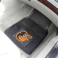 "Baltimore Orioles Heavy Duty 2-Piece Vinyl Car Mats 18""x27"""