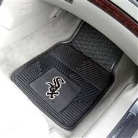 "Chicago White Sox Heavy Duty 2-Piece Vinyl Car Mats 18""x27"""