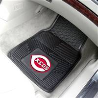 "Cincinnati Reds Heavy Duty 2-Piece Vinyl Car Mats 18""x27"""