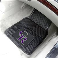 "Colorado Rockies Heavy Duty 2-Piece Vinyl Car Mats 18""x27"""
