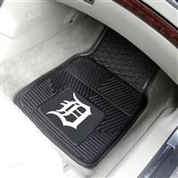 "Detroit Tigers Heavy Duty 2-Piece Vinyl Car Mats 18""x27"""