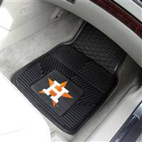 "Houston Astros Heavy Duty 2-Piece Vinyl Car Mats 18""x27"""