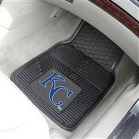 "Kansas City Royals Heavy Duty 2-Piece Vinyl Car Mats 18""x27"""