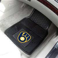 "Milwaukee Brewers Heavy Duty 2-Piece Vinyl Car Mats 18""x27"""