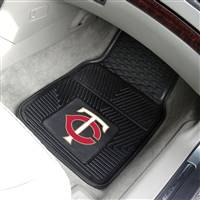 "Minnesota Twins Heavy Duty 2-Piece Vinyl Car Mats 18""x27"""