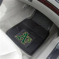 "Oakland Athletics Heavy Duty 2-Piece Vinyl Car Mats 18""x27"""