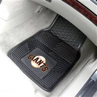 "San Francisco Giants Heavy Duty 2-Piece Vinyl Car Mats 18""x27"""