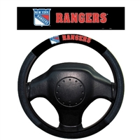 New York Rangers Poly-Suede Steering Wheel Cover