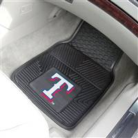 "Texas Rangers Heavy Duty 2-Piece Vinyl Car Mats 18""x27"""
