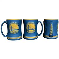 Golden State Warriors Coffee Mug - 14oz Sculpted Relief