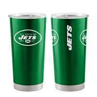 New York Jets Travel Tumbler 20oz Ultra Green