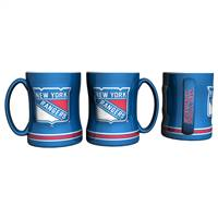 New York Rangers Coffee Mug 14oz Sculpted Relief
