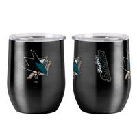 San Jose Sharks Travel Tumbler 16oz Ultra Curved Beverage Special Order